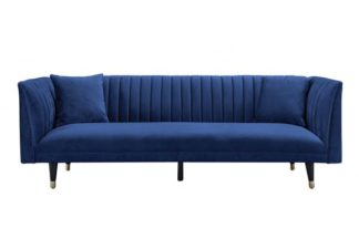An Image of Baxter Three Seat Sofa - Navy Blue