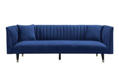 An Image of Baxter Three Seat Sofa - Navy Blue