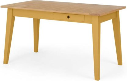 An Image of Ralph Compact Dining Table, Mustard Yellow