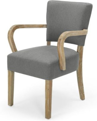 An Image of Irvington Carver Chair, Graphite Grey