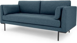 An Image of Harlow Large 2 Seater Sofa, Orleans Blue