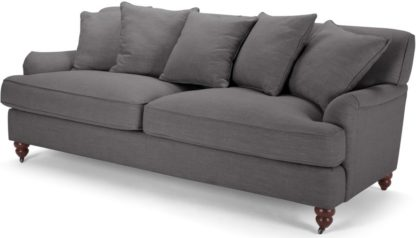 An Image of Orson 3 Seater Sofa, Scatterback, Graphite Grey