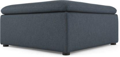 An Image of Victor Modular Sofa Storage Ottoman, Lido Blue
