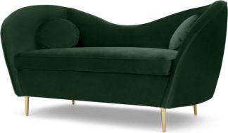 An Image of Kooper 2 Seater Sofa, Pine Green Velvet