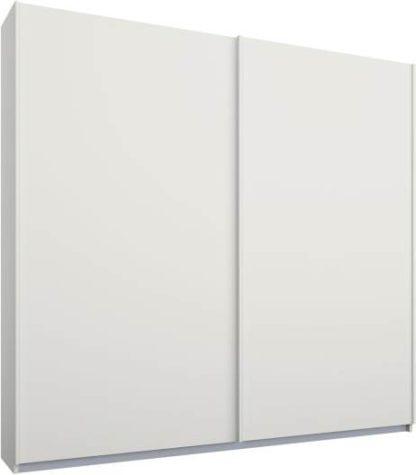 An Image of Malix 2 door 181cm Sliding Wardrobe, White frame,Matt White doors, Standard Interior