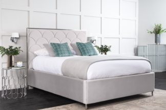 An Image of Pino Storage Bed - Silver