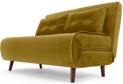 An Image of Haru Small Sofa Bed, Vintage Gold Velvet