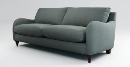 An Image of Custom MADE Sofia 3 Seater Sofa, Athena Dark Grey