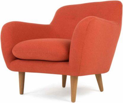 An Image of Dylan Armchair, Retro Orange