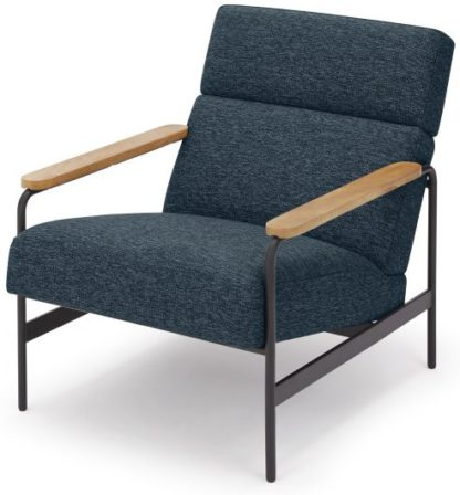 An Image of Kingston Accent Armchair, Storm Blue