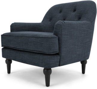 An Image of Flynn Armchair, Atlantic Blue Linen Mix
