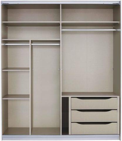 An Image of Malix 181cm Sliding Wardrobe Premium Interior Package