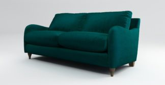 An Image of Custom MADE Sofia 2 Seater Sofa, Plush Mallard Velvet with Light Wood Legs