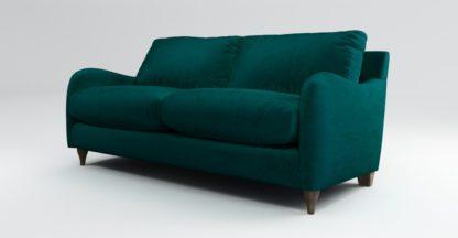 An Image of Custom MADE Sofia 2 Seater Sofa, Plush Mallard Velvet with Light Wood Legs