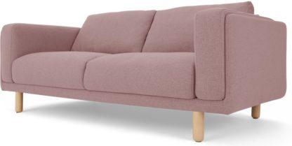 An Image of Karson 2 Seater Sofa, Mina Pink