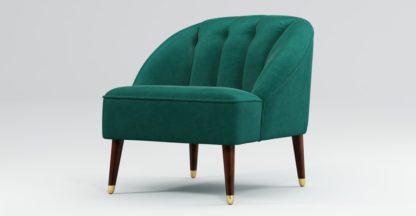 An Image of Custom MADE Margot Accent Chair, Teal Cotton Velvet