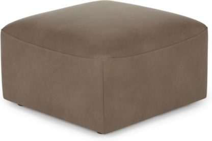 An Image of Juno Modular Ottoman, Columbus Brown Leather