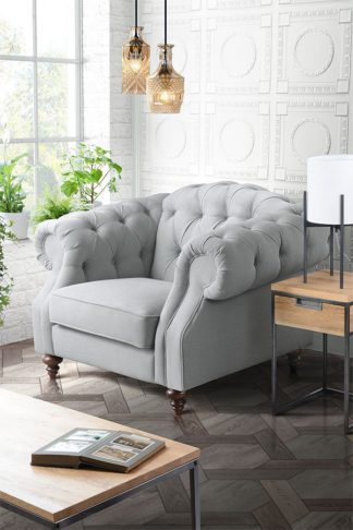 An Image of Buster Armchair Malaga Steel