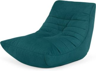 An Image of Audrie Bean Bag Chair, Mineral Blue