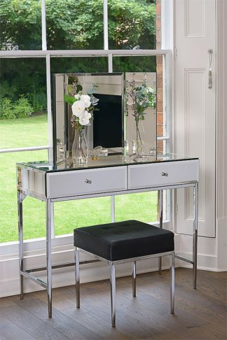An Image of Stiletto Toughened Mirror Console Table