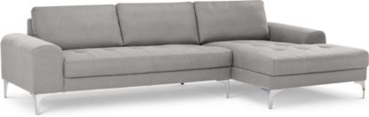 An Image of Vittorio Right Hand Facing Chaise End Corner Sofa, Pearl Grey