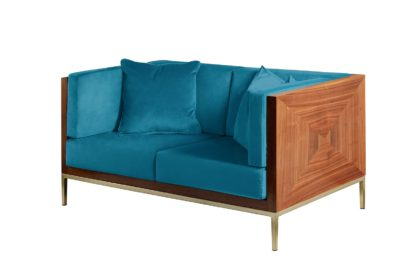 An Image of Ravello Two Seat Sofa - Teal