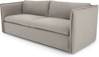 An Image of MADE Essentials Paven 3 Seater Sofa, Mina Grey