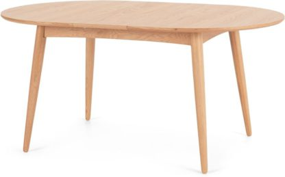 An Image of Deauville 4-6 Seat Oval Extending Dining Table, Oak