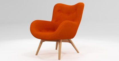 An Image of Custom MADE Doris Accent Chair, Shetland Orange