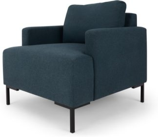 An Image of MADE Essentials Oskar Armchair, Aegean Blue