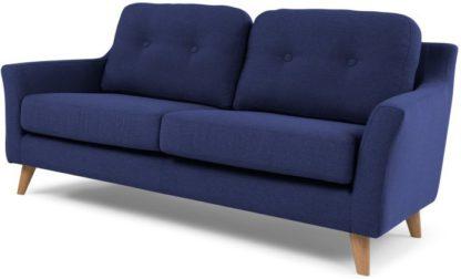 An Image of Rufus 2 Seater Sofa, Dark Cobalt Blue
