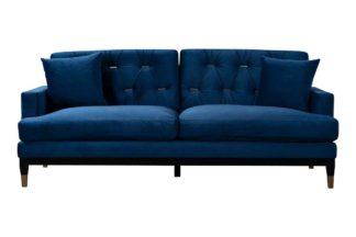 An Image of Bonn Three Seat Sofa - Blue