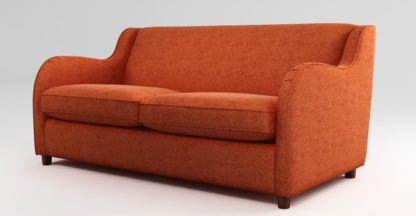 An Image of Custom MADE Helena Sofabed with Memory Foam Mattress, Textured Weave Tangerine