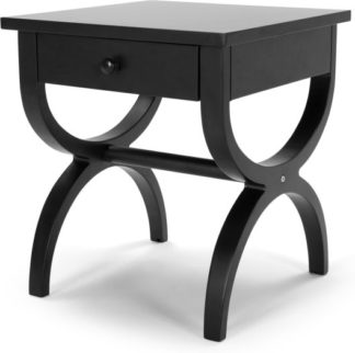An Image of Leila Bedside Table, Black