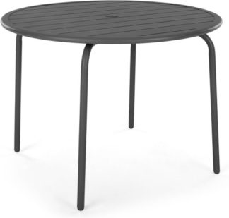 An Image of MADE Essentials Tice Garden 4 Seater Dining Table, Grey