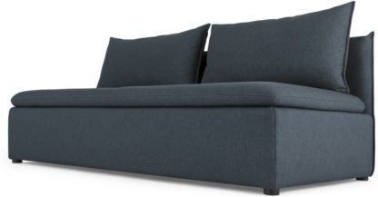 An Image of Victor Modular Sofa Storage Double Seat, Lido Blue