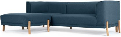 An Image of Magnus Left Hand Facing Corner Sofa Group, Orleans Blue