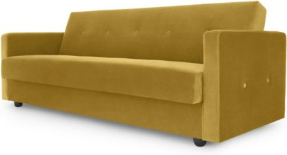 An Image of Chou Click Clack Sofa Bed with Storage, Vintage Gold Velvet