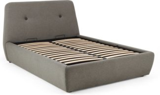 An Image of Edwin Double Bed with Storage, Pavilion Marl Grey