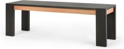 An Image of Anderson Bench , Grey Mango Wood and Copper