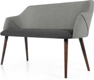 An Image of Lule Compact Dining Bench, Marl and Hail Grey