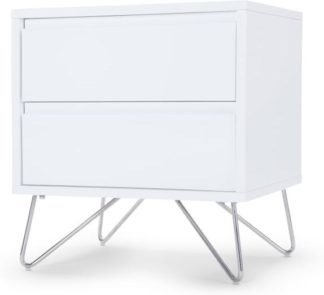 An Image of Elona Bedside Table, White Gloss