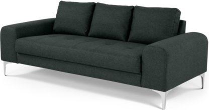 An Image of Vittorio 3 Seater Sofa, Anthracite Grey