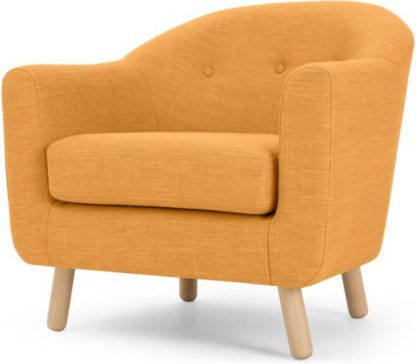 An Image of Lottie Armchair, Honey Yellow