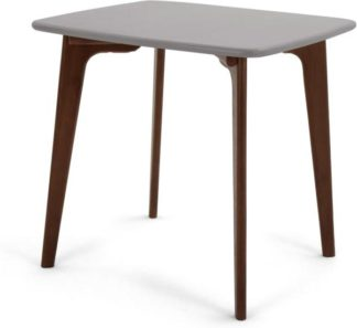 An Image of Fjord 4 Seat Square Compact Dining Table, Dark Stain Oak and Grey
