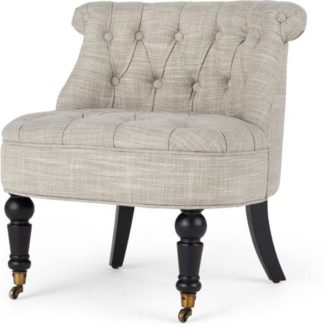 An Image of Bouji Accent Chair, Taupe Linen Mix