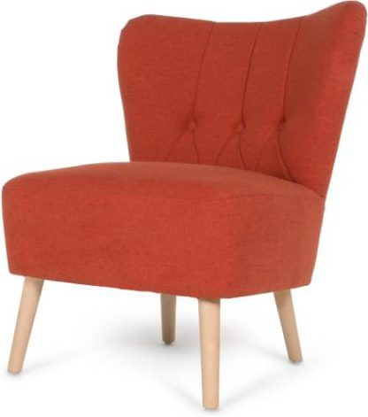 An Image of Charley Accent Armchair, Retro Orange
