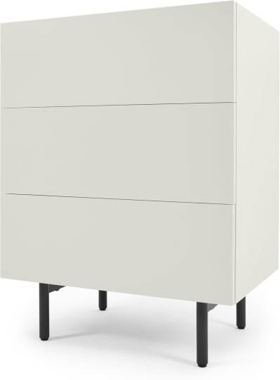 An Image of MADE Essentials Mino Chest Of Drawers, Oak and Ivory White