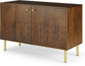 An Image of Hedra Sideboard, Mango wood and Brass