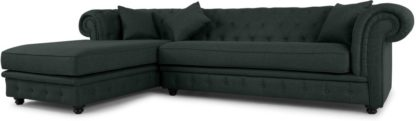 An Image of Branagh Left Hand Facing Chaise End Corner Sofa, Anthracite Grey